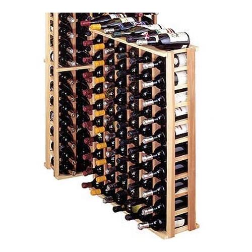 Wine Cellar Innovations Premium Redwood 66 Bottle Floor Wine Rack