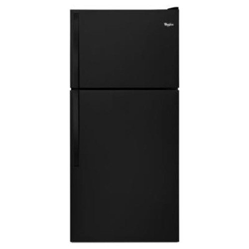 Whirlpool 30 in. W 18.2 cu. ft. Top Freezer Refrigerator in Black