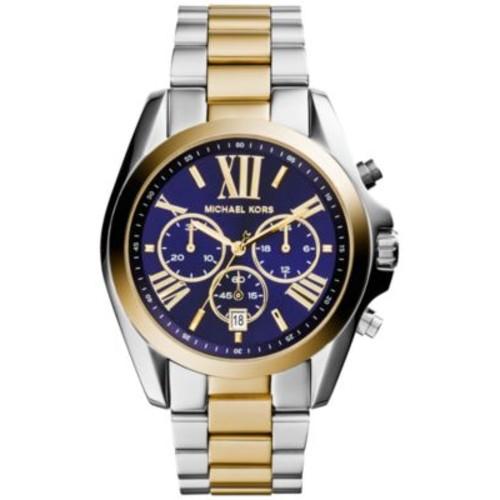 Michael Kors Womens Chronograph Bradshaw Two-Tone Stainless Steel Bracelet Watch 43mm MK5976