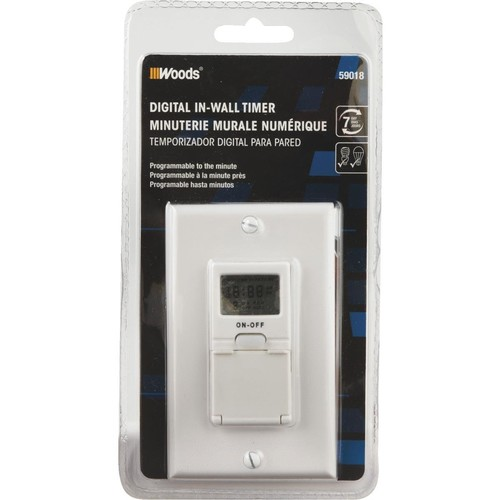 Woods 59018WD In-Wall 7-Day Digital Timer [White]