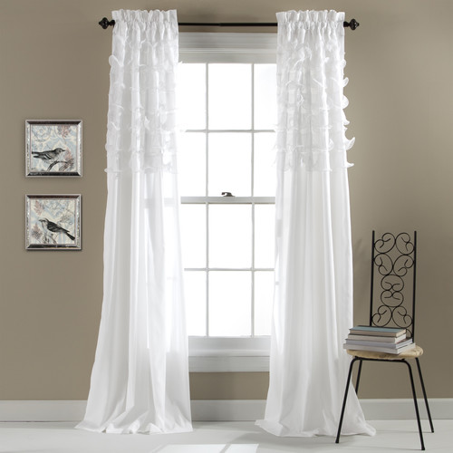 Lush Decor Avery Pink Window Curtains (Pairs) [Length : 84 in.; Lined or Unlined : Unlined; Width : 54 in.]