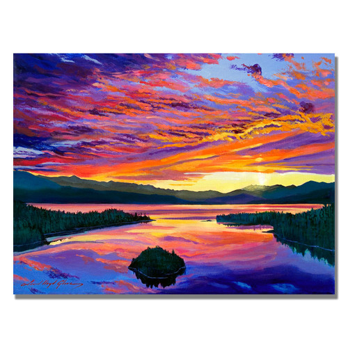 Trademark Global David Lloyd Glover 'Paint Brush Sky' Canvas Art [Overall Dimensions : 35x47]
