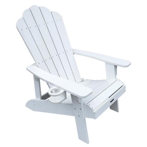 Island Umbrella Island Retreat Plastic Adirondack Chair in White