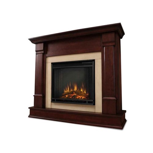 Real Flame Silverton Electric Fireplace in Dark Mahogany - G8600E-DM