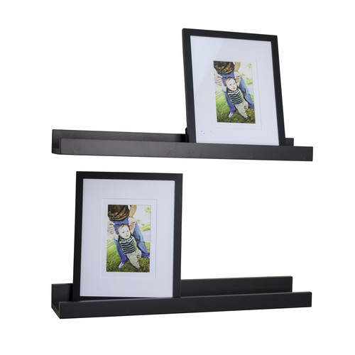 Danya B Ledge Shelf with 2 Photo Frames - Set of 2