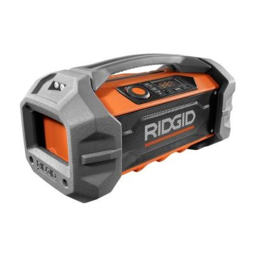 RIDGID GEN5X 18-Volt Jobsite Radio with Bluetooth Wireless Technology