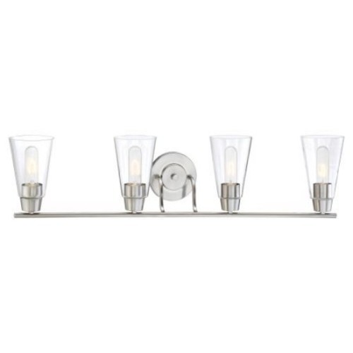 Designers Fountain Echo 4-Light Satin Platinum Bath Bar Light