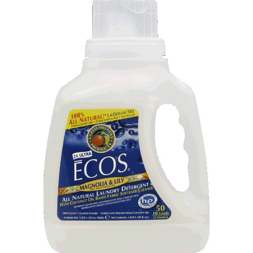 Earth Friendly Magnolia and Lilie Ecos Ultra Liquid Laundry Detergent, 50 Ounce -- 8 per case. [Magnolia and Lilie 50 Ounce and 8 per case]