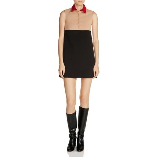MAJE Raiano Color Block Mini Dress