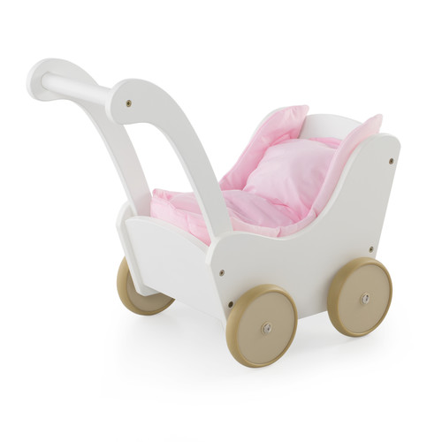 Guidecraft White Doll Buggy - Fits 18