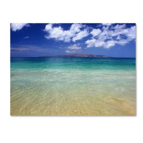 Trademark Art \'Hawaii Blue Beach\' by Pierre Leclerc Photographic Print on Canvas