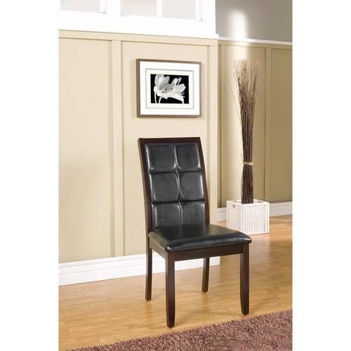 Alpine Havenhurst Merlot Acacia Dining Chairs (Set of 2)
