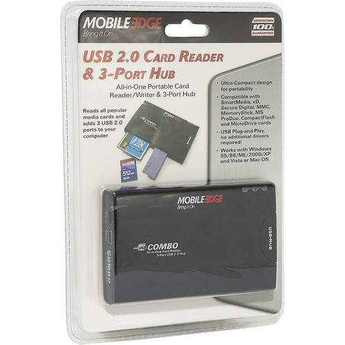 Mobile Edge USB 2.0 3-Port Hub & Card Reader/Writer