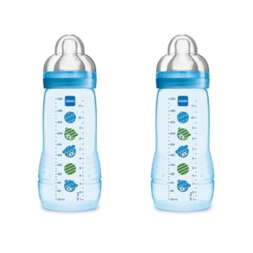 MAM 2-Pack 11 oz. Easy Active Bottle in Blue