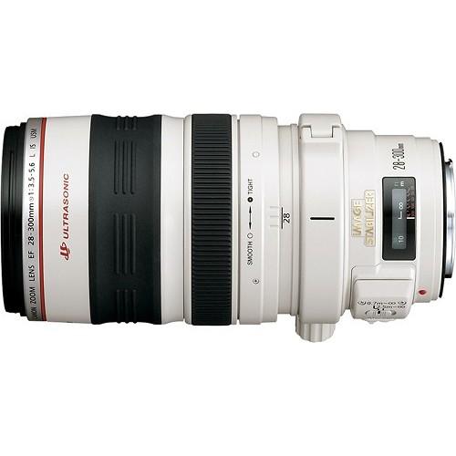 Canon - EF 28300mm f/3.55.6L IS USM Standard Zoom Lens - White