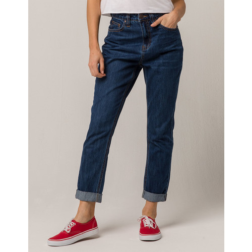 DICKIES Roll Cuff Womens High Rise Jeans