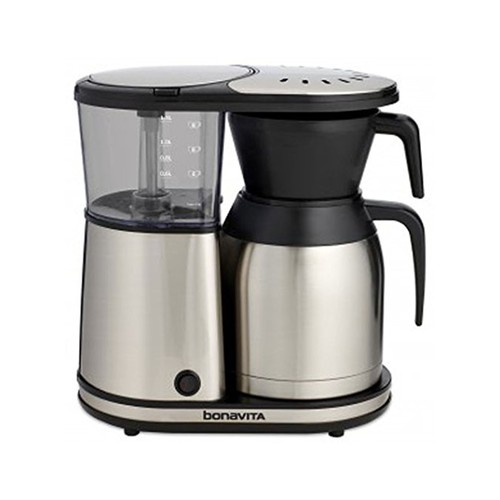 Bonavita BV1900TS 8-Cup Carafe Coffee Brewer, Stainless Steel [Stainless Steel Carafe]