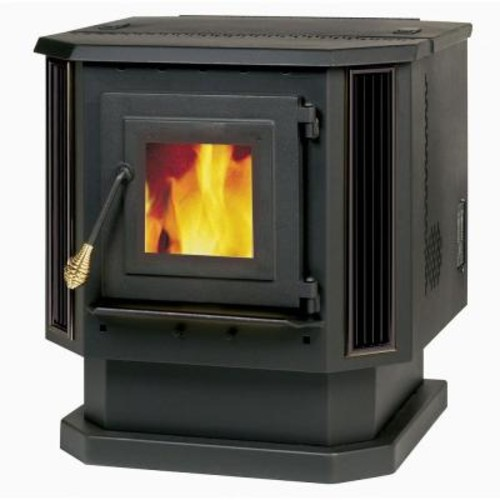 Englander 2,200 sq. ft. Pellet Stove with Black Louvers