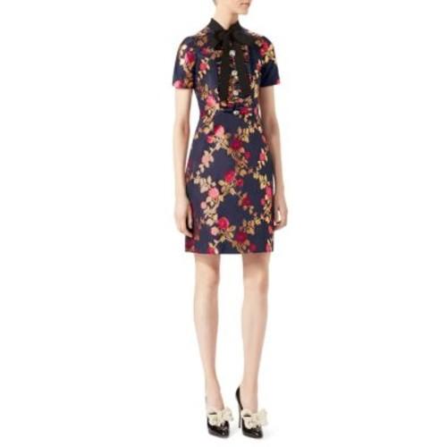 GUCCI Silk Jacquard Dress