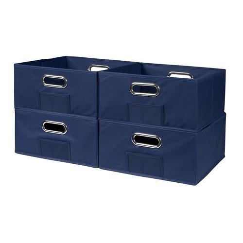 Niche Cubo 12 in. x 6 in. Blue Folding Fabric Bin (4-Pack)