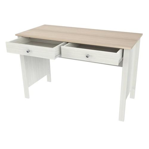 Inval Laricina-White and Beech Computer Desk