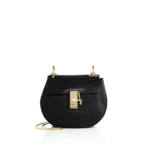 Drew Small Leather Saddle Crossbody Bag