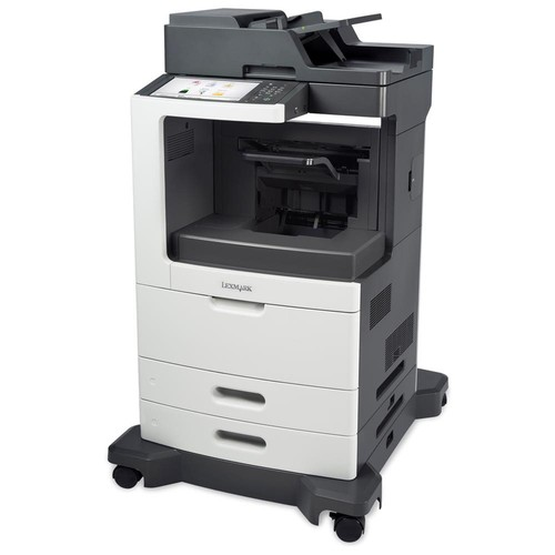 Lexmark MX810DE Laser Multifunction Printer - Monochrome - Plain Paper Print - Desktop - Copier/Fax/Printer/Scanner - 63 ppm Mono Print - 1200 x 1200 dpi Print - 63 cpm Mono Copy - 10.2
