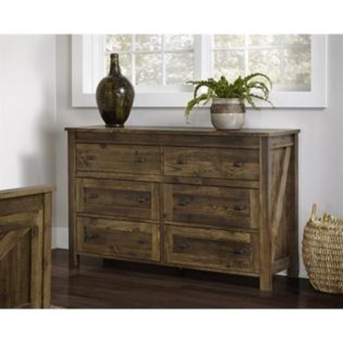 Ameriwood Home Altra Furniture Farmington 6 Drawer Dresser in Century Barn Pine