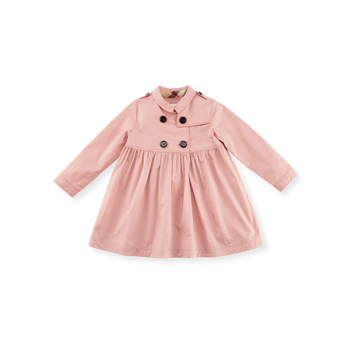 BURBERRY Lillybeth Double-Breasted Coat, Rose, Size 2