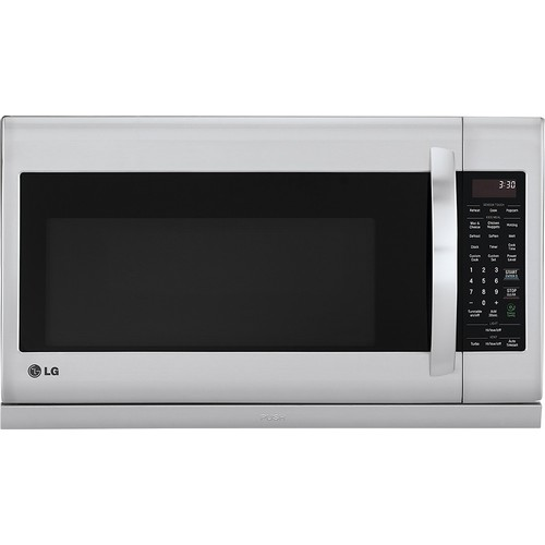 LG - 2.2 Cu. Ft. Over-the-Range Microwave - Stainless-Steel