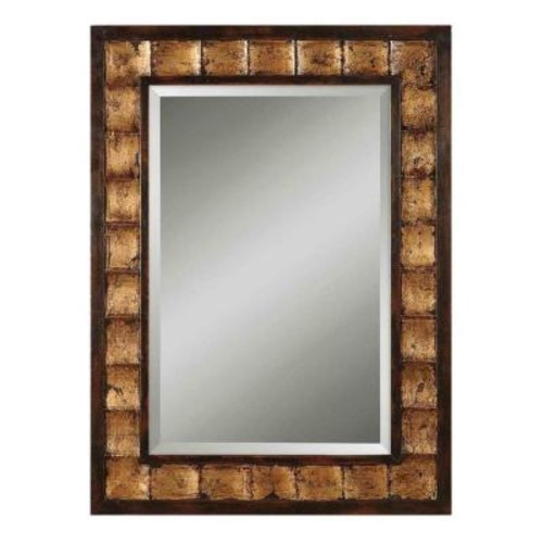 Global Direct 38 in. x 28 in. Mahogany Framed Mirror