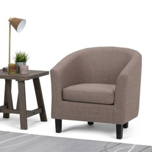 Simpli Home Austin Tub Chair in Fawn Brown (AXCTUB-003-BRL)