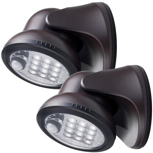 Light It! 12-Light Bronze Motion Activated Outdoor Integrated LED Wireless Area Light (2-pack)
