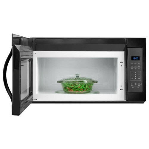 Whirlpool 1.7-cu ft Over-the-Range Microwave (Black) (Common: 30-in; Actual: 30-in)