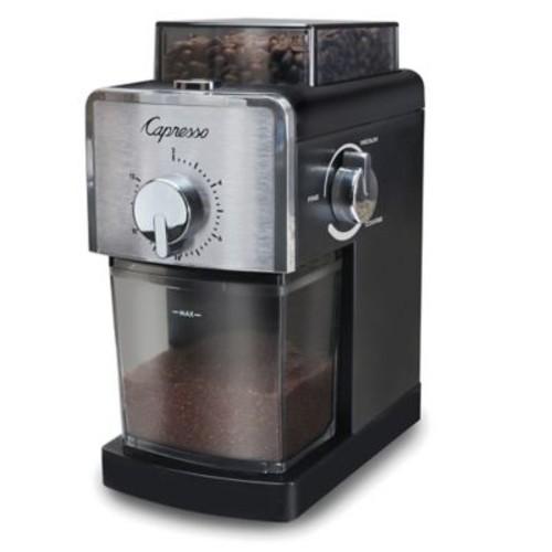 Capresso Coffee Burr Grinder in Black/Stainless Steel