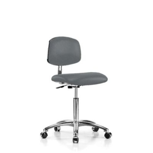 Perch Chairs & Stools Low-Back Desk Chair; Cinder Fabric