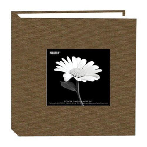 Pioneer 100 Pocket Fabric Frame Cover Photo Album, Warm Mocha