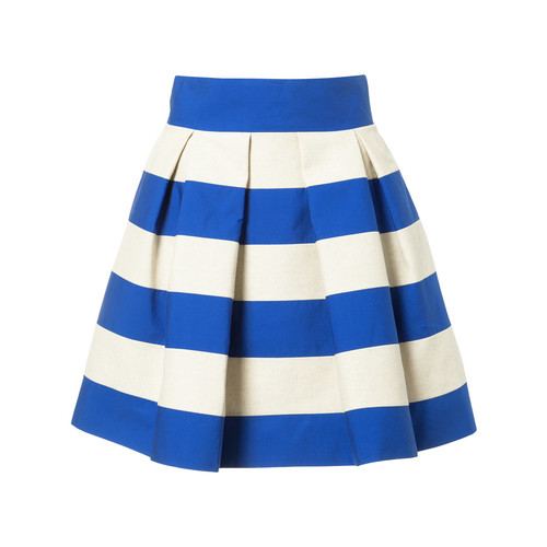 DELPOZO Striped Skirt