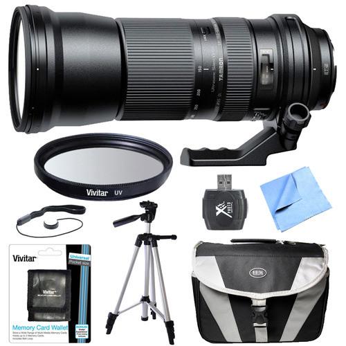 Tamron SP 150-600mm F/5-6.3 Di VC USD Zoom Lens All Inclusive Bundle for Nikon
