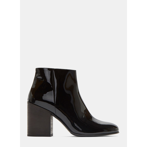Beth Patent Ankle Boots in Black