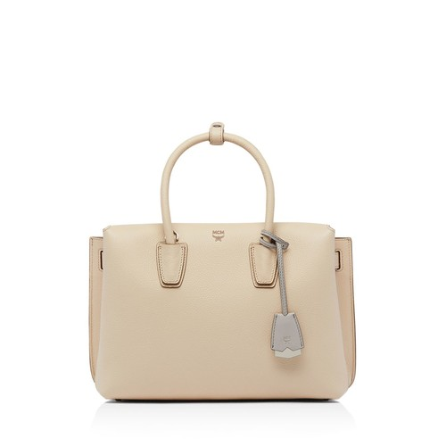 MCM Milla Medium Leather Satchel