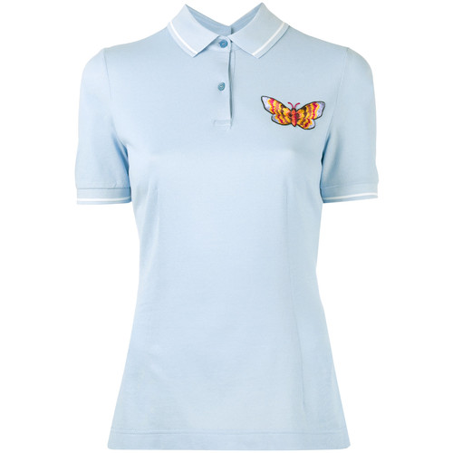 DOLCE & GABBANA Embroidered Butterfly Polo Shirt