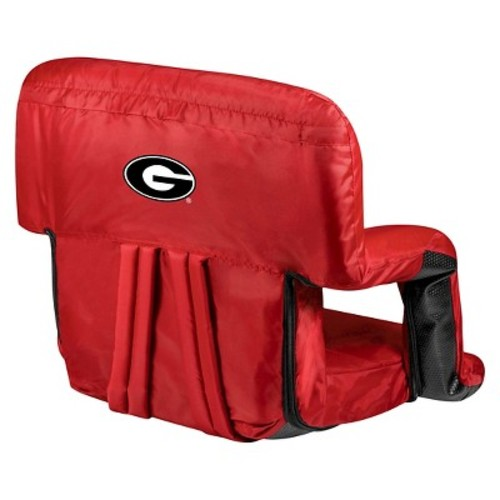 NCAA Georgia Bulldogs Ventura Portable Reclining Seat, Red
