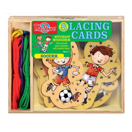 TS Shure Soccer Wooden Lacing Cards