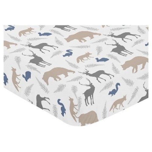 Sweet Jojo Designs Fitted Crib Sheet - Woodland Animals