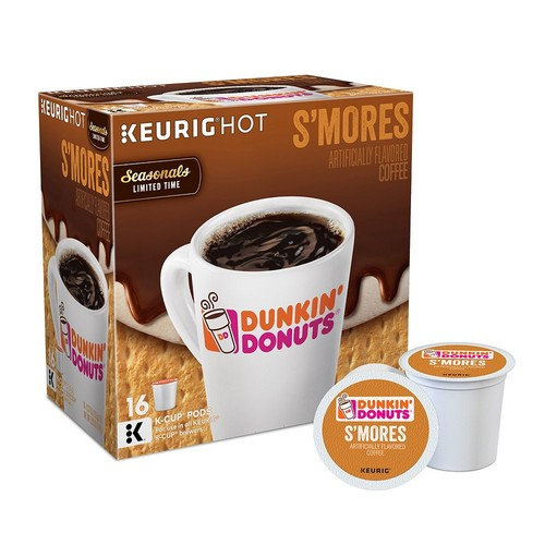 Keurig K-Cup Pod Dunkin' Donuts S'mores Coffee - 16-pk.