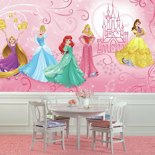 RoomMates 72 in. W x 126 in. H Disney Princess Enchanted XL Chair Rail 7-Panel Prepasted Wall Mural