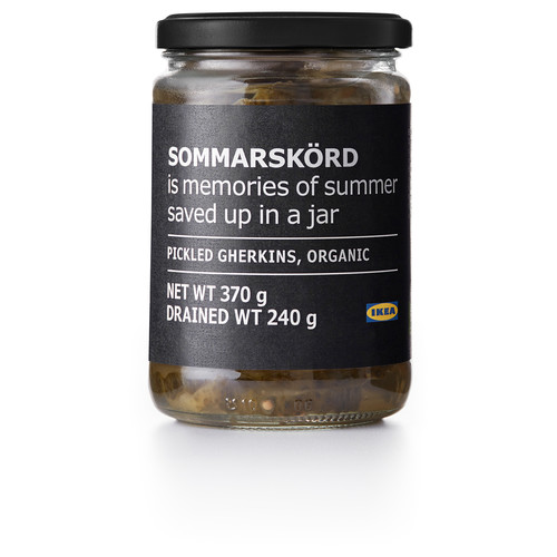 SOMMARSKRD Pickled gherkins, sliced, organic