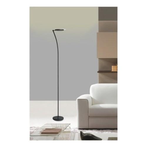 Adjustable Torchiere LED Floor Lamp Black - Ore International