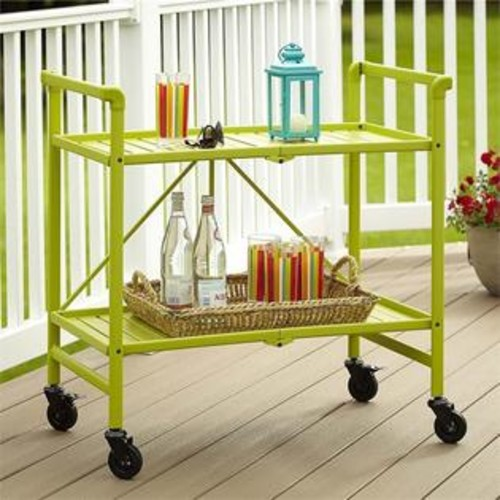 Cosco SMARTFOLD Folding Serving Bar Cart in Apple Green